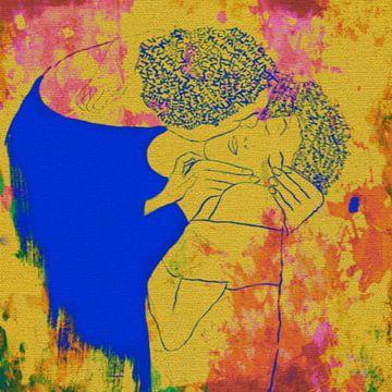 Der Kuss von Gustav Klimt Teil 2 van Felix von Altersheim
