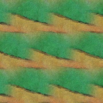 Abstract patroon in groen en geel van Maurice Dawson