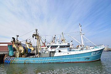 Het vissersschip de GY-57 Eben Haëzer van Piet Kooistra