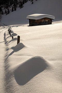 Hütte mit Schnee im Ködnitztal - Osttirol - Österreich