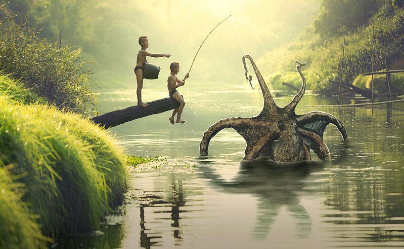 Gigantische Octopus van Sarah Richter