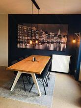 Kundenfoto: Amsterdam in the evening von Menno Schaefer, als akustikbild