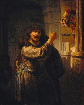 Samson droht seinen Schwiegervater, Rembrandt van Rijn