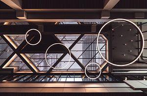 Architektonische Details eines Daches