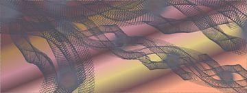 Delicate sluier grijs en roze van Ina Fischer
