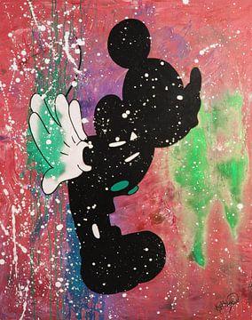 """Mickey Mouse """"Kus"""" van Kathleen Artist Fine Art"""