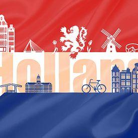 Vlag van Holland van Stedom Fotografie
