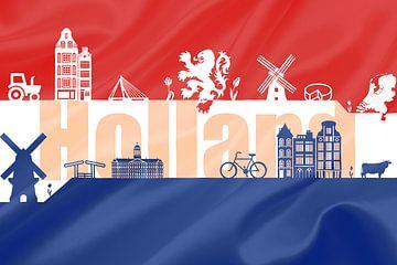 Flagge von Holland von Stedom Fotografie