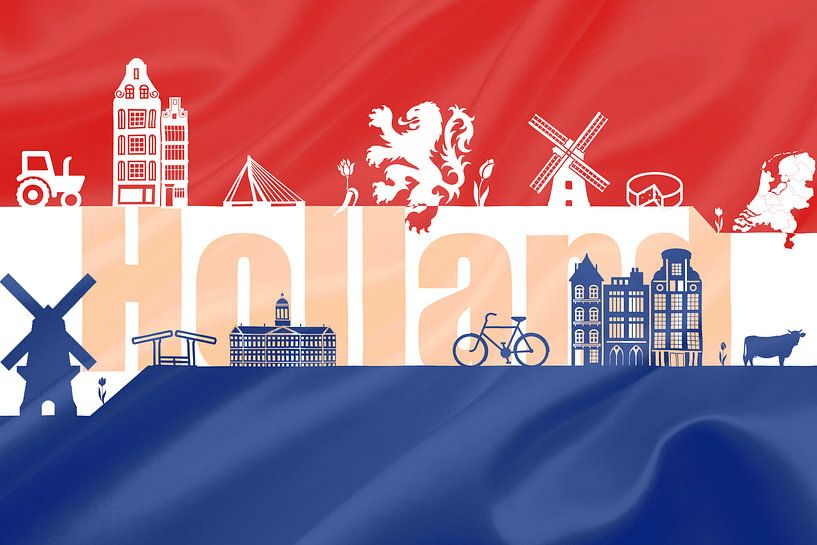 Vlag van Holland van Koop je Canvas