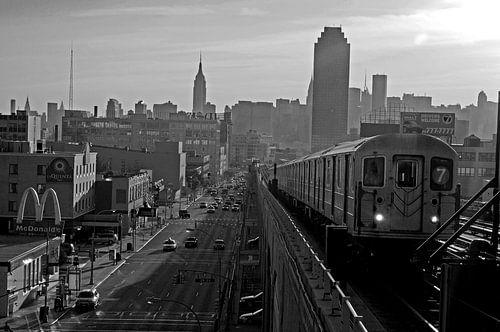 The 7 Subway Train von Alexander van der Linden