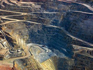 open groeve bij de Ray mijn, Kearny, Pinal County, Arizona, USA van