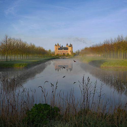Zicht op Slot Assumburg, Heemskerk van