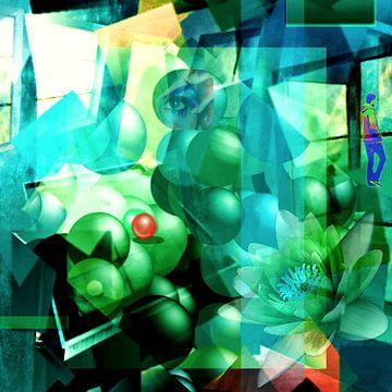 Abstrakte Spielerei mit einem Raum von Gertrud Scheffler