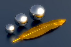 Feather and Orbs