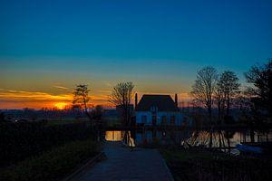 Sonnenuntergang in Overschie (Rotterdam)