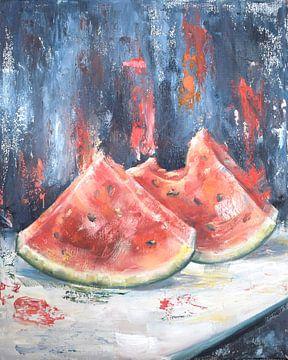Wassermelone Ölfarbe von Tat.kunst