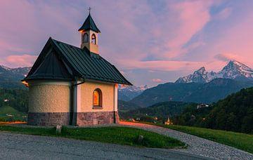 Lockstein Kapel, Berchtesgaden, Beieren, Duitsland van Henk Meijer Photography