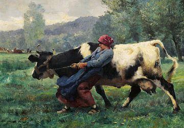 Julien Dupré~Die störrische Kuh.