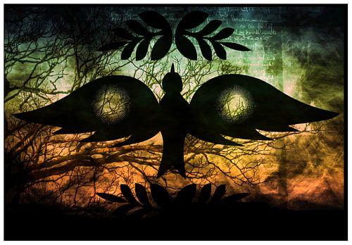 Peace Bird grunge