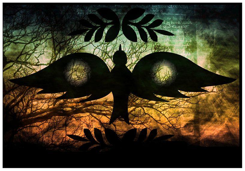 Peace Bird grunge von Nicky`s Prints