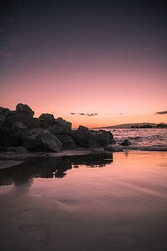zonsondergang waikiki beach sur Bram Laenen