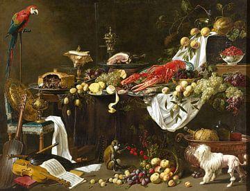 Adriaen van Utrecht. Pronkstilleven van 1000 Schilderijen