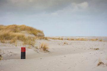 Strandpaal 13 in duinen Schiermonnikoog van
