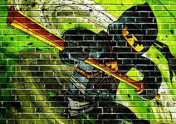 LEGO ninjago Wandgraffiti von Bert Hooijer
