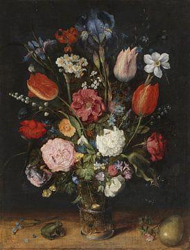 Blumen in einem Glas, Jan Brueghel der Ältere von Meesterlijcke Meesters