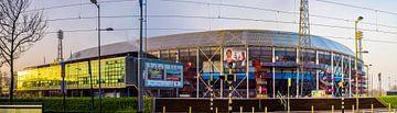 Feyenoord stadion de Kuip in de ochtend van Fred Leeflang