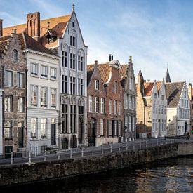 Panorama Brugge Belgium winter von Remco van Adrichem