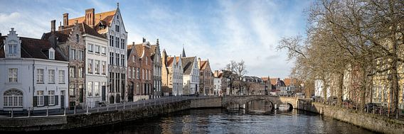 Panorama Brugge Belgium winter van Remco van Adrichem