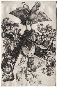 Wappen mit Löwe und Hahn, Albrecht Dürer
