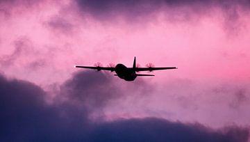 Danish C130 hercules in a moody sky van Stefano Scoop