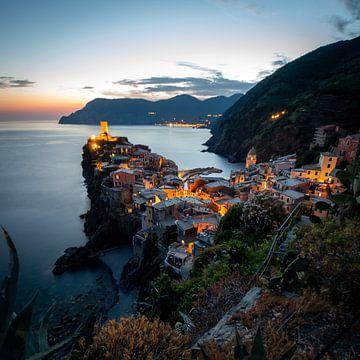 Cinque Terre sunset van Stefan Bauwens Photography