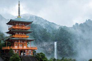 Pagode langs  Kumano Kodo pelgrimspad in Japan