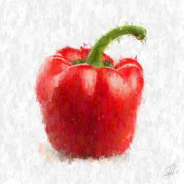 Rote Paprika von Theodor Decker