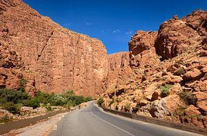 Weg door de Todrakloof, Marokko