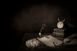 Stilleben in Sepia mit Büchern ... von Saskia Dingemans