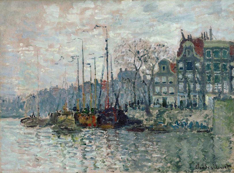 Blick auf die Prins Hendrikkade und das Kromme Waal in Amsterdam, Claude Monet von Meesterlijcke Meesters