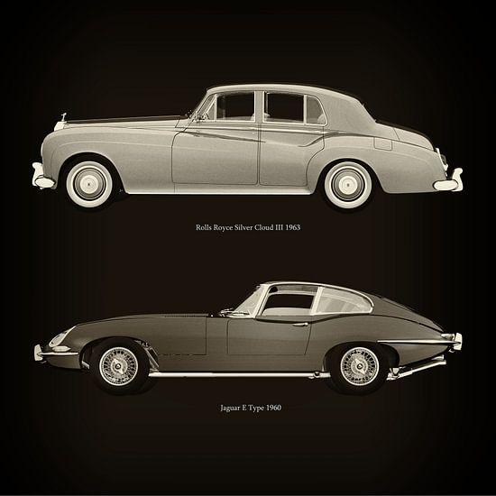 Rolls Royce Silver Cloud III 1963 en Jaguar E Type 1960