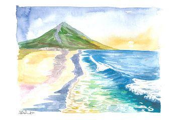 Verbazingwekkende strandscène van Achill Island met Slievemore in Ierland van Markus Bleichner
