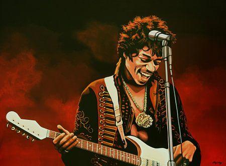 Jimi Hendrix Schilderij van Paul Meijering