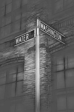 Water street - Grafische schets van Joris Pannemans - Loris Photography