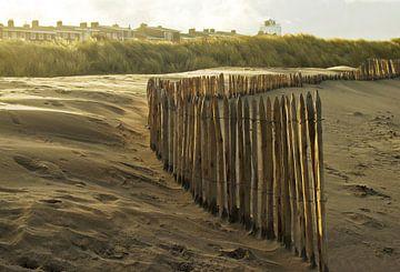 paaltjes op het strand van katwijk von Dirk van Egmond