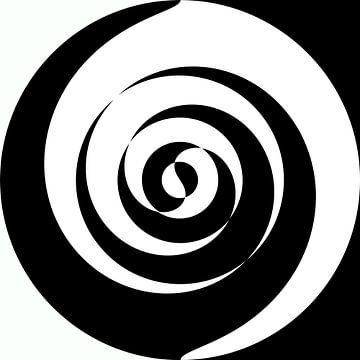 Abstraktes Schwarz-Weiß-Linienspiel von Maurice Dawson