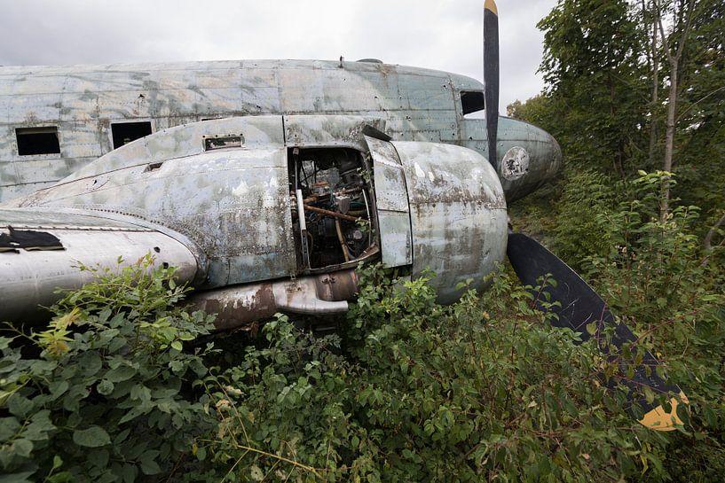 Épave d'un avion militaire abandonné Dakota sur Ger Beekes
