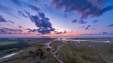 Der Sonnenuntergang des Slufter Texel von Texel360Fotografie Richard Heerschap