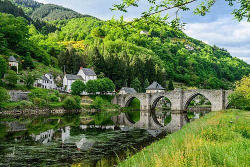 Le pont d'Entraygues sur Truyère van
