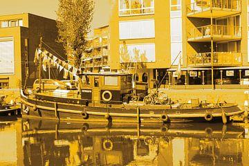 Vianen Utrecht Innenstadt Schleppertage Gold von Hendrik-Jan Kornelis